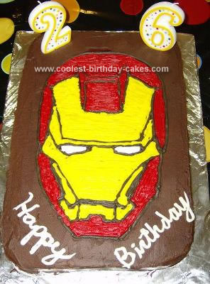 I Made This Iron Man Cake For My Husbands 26th Birthday Hes A Huge Fan And We Both Loved The Movie So Just Had To Make Him