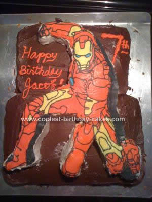 Cool Homemade Iron Man Birthday Cake For A Boy
