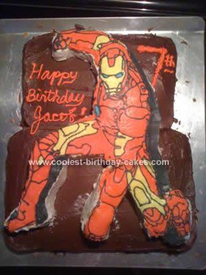 Homemade Iron Man Birthday Cake Design