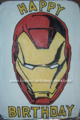Cool Coolest Iron Man Birthday Cake Design Personalised Birthday Cards Akebfashionlily Jamesorg