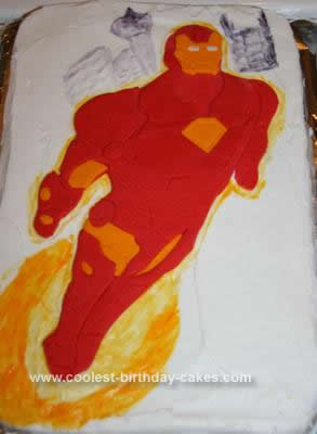 Homemade Iron Man Birthday Cake Design