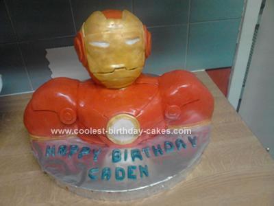 Homemade Iron Man Cake