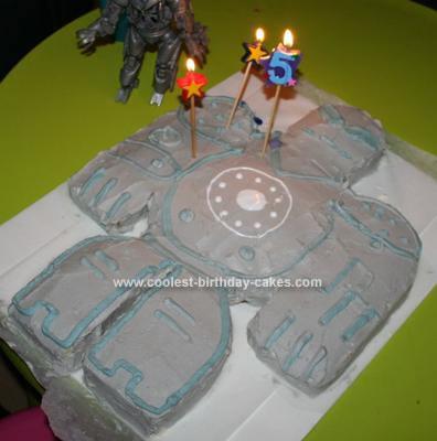 Homemade Iron Monger Birthday Cake