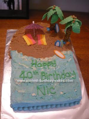 Homemade Island Beach Cake