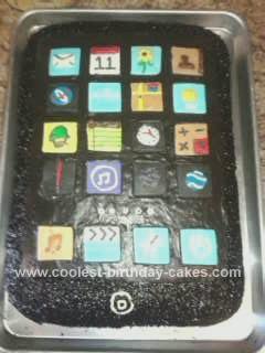 Homemade Itouch Birthday Cake