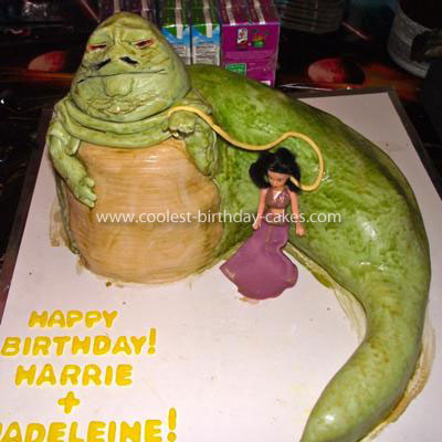 Homemade Jabba the Hutt Cake