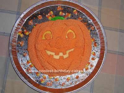 Homemade Jack O' Lantern Cake