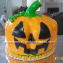 Jack O'Latern Pumpkin Cake