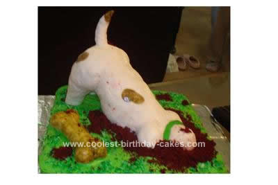 Homemade Jack Russell Birthday Cake