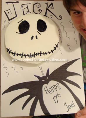 Homemade Jack Skellington Birthday Cake