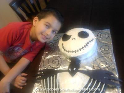 Homemade Jack Skellington Birthday Cake