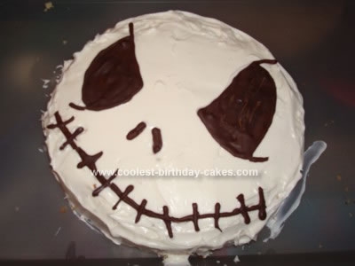 Homemade Jack Skellington Cake