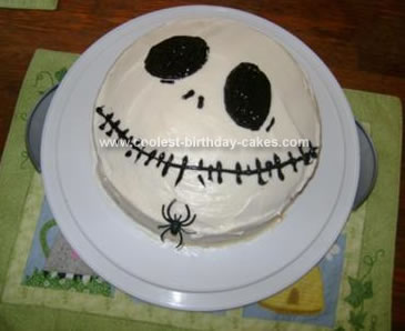 Homemade Jack Skellington Cake