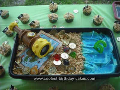 Homemade Jake and the Neverland Pirate Cake