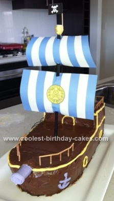 Homemade Jake and the Neverland Pirates Bucky Ship Cake