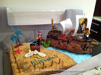 Homemade Jake And the Pirates Birthday Bash Cake
