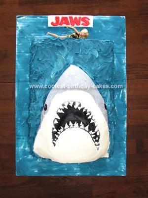 Homemade Jaws Birthday Cake