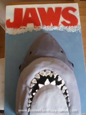 Homemade Jaws Shark Cake