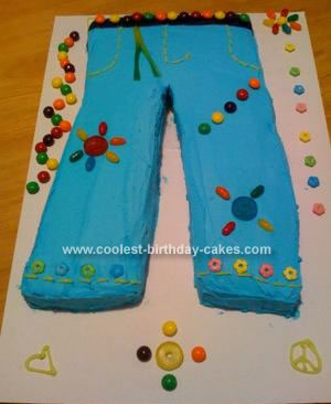 Homemade Jeans Cake