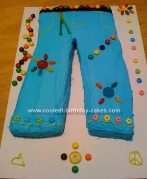 Homemade Jeans Cake