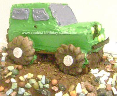 Homemade Jeep Birthday Cake