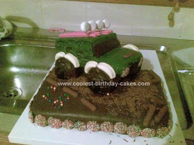 Homemade Jeep Birthday Cake