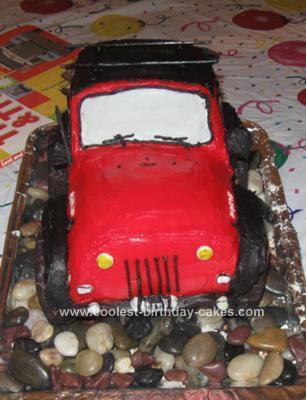 Homemade Jeep Cake