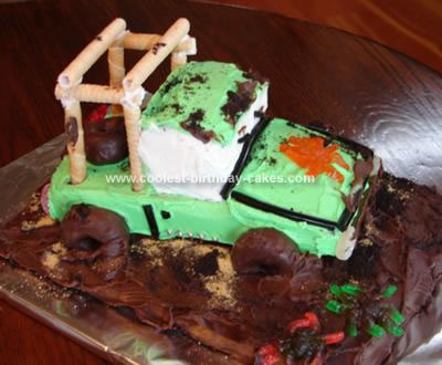 Homemade Jeep Mud Bogging Cake