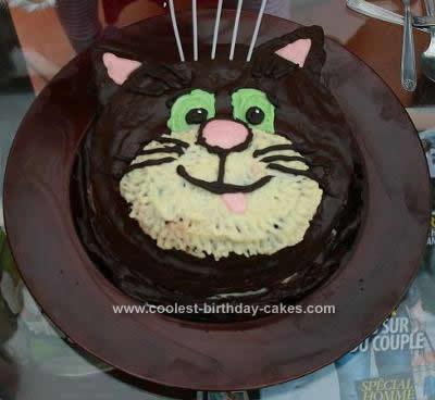 Homemade Jess The Cat Cake
