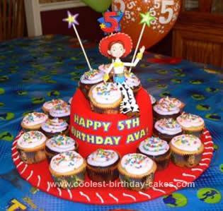 Homemade Jessie Cupcake Cake