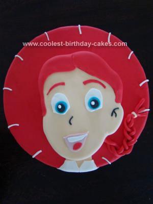 Homemade Jessie Toy Story Cake