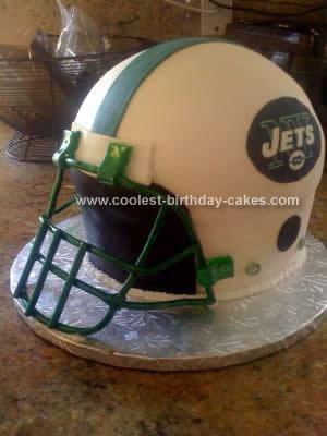 Homemade Jet Helmet Birthday Cake Design