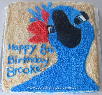 Pleasant Coolest Jewel From Rio Birthday Cake Funny Birthday Cards Online Unhofree Goldxyz