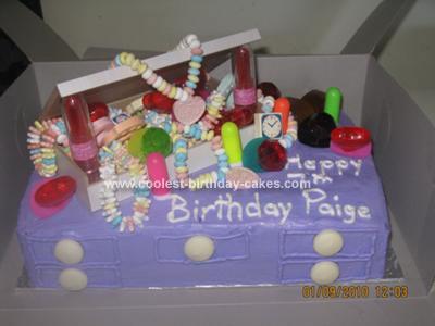Homemade Jewelery Box on a Vanity Cake