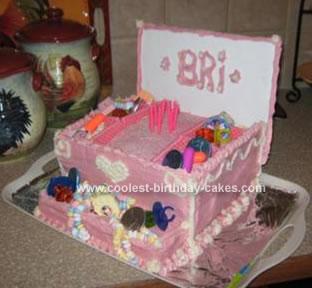Homemade Jewelry Box Birthday Cake