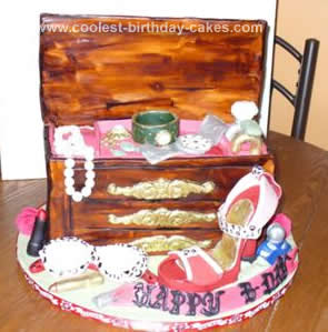 Homemade Jewelry Box & High Heel Shoe Birthday Cake