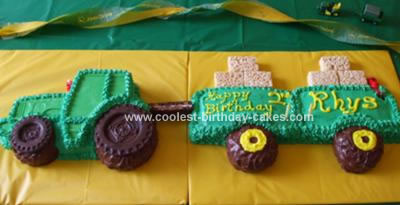 Homemade John Deere Birthday Cake