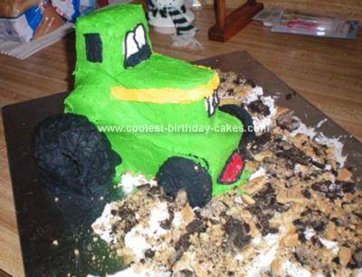 Homemade John Deere Birthday Cake