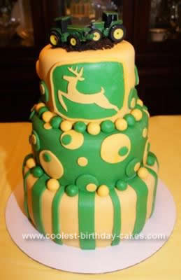 Remarkable Coolest John Deere Birthday Cake Personalised Birthday Cards Veneteletsinfo