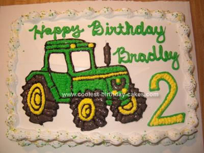 Awesome Coolest John Deere Tractor Birthday Cake Personalised Birthday Cards Veneteletsinfo