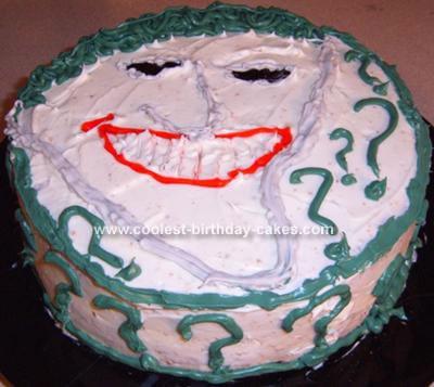 Homemade Joker from Batman Cake