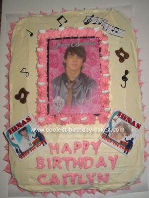 Homemade Jonas Birthday Cake