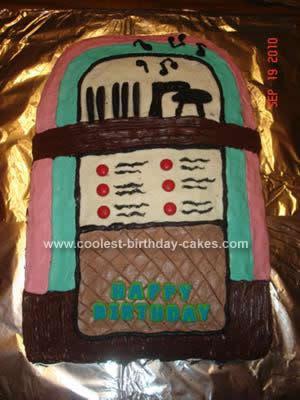 Homemade Jukebox Cake