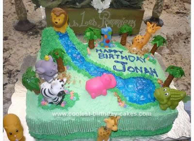 Homemade Jungle Baby Cake