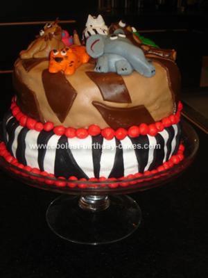 Homemade Jungle Birthday Cake