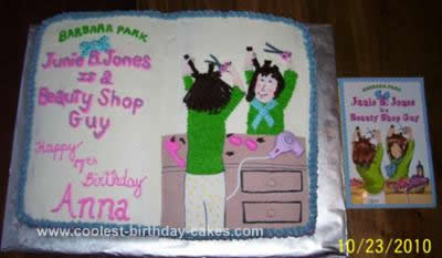 Homemade Junie B Jones Birthday Cake Design