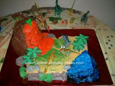Homemade Jurassic Birthday Cake