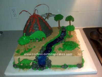 Homemade Jurassic Birthday Cake