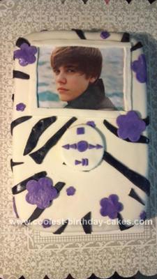 Homemade Justin Bieber IPOD Cake