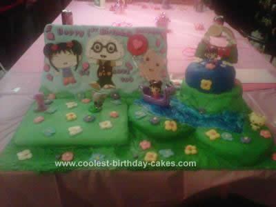 Kai Lan 1st Birthday Homemade Fondant Cake
